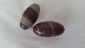 Pair of shiva lingams