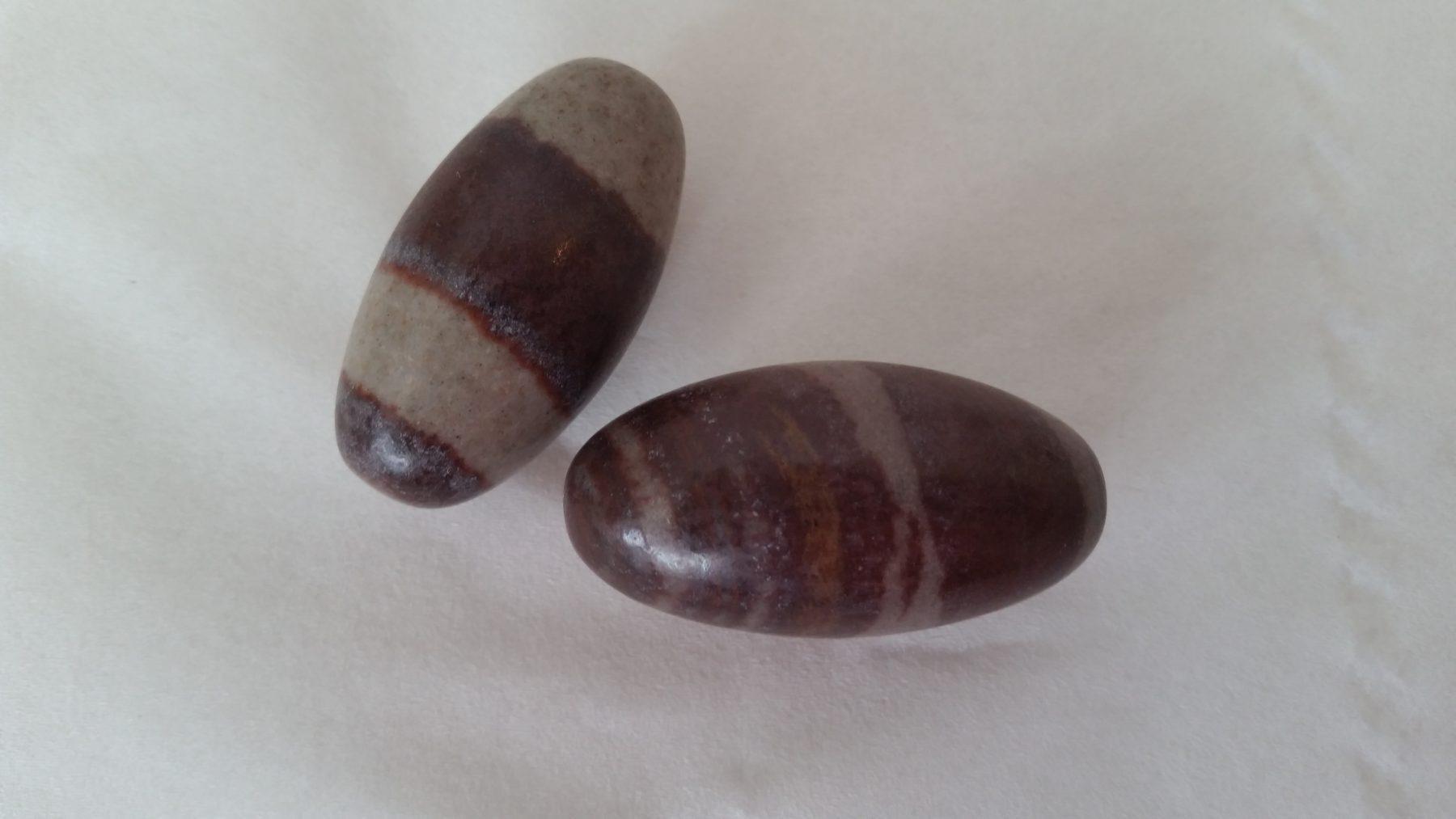 Pair of shiva lingams