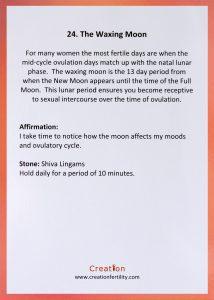 The waxing moon