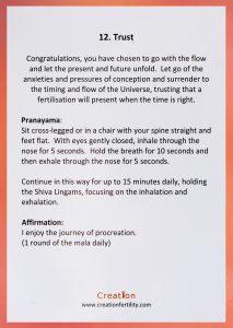 Trust Creation Fertility Gidance card