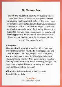 chemical free creation guidance card